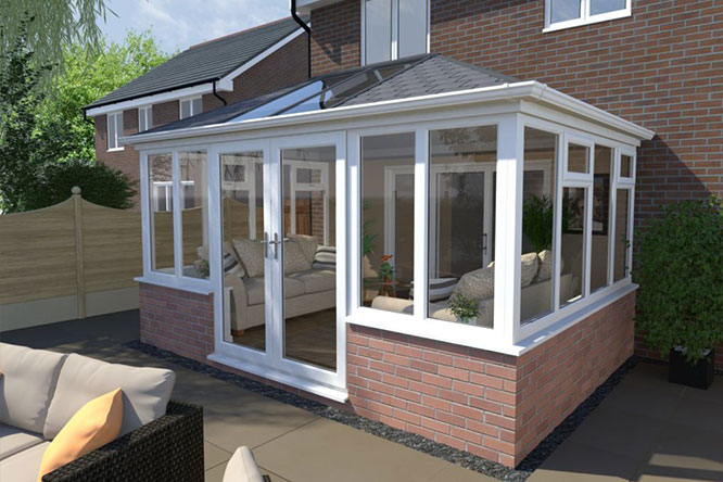 Conservatory installed by Homebrite in Kent